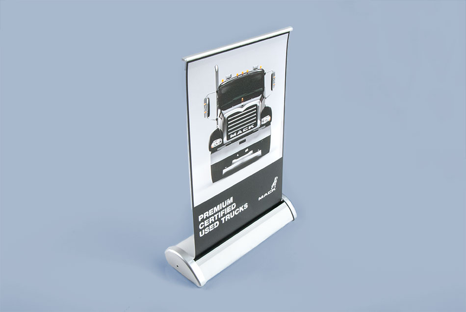 mack trucks tabletop pop up banner graphic visual solutions